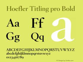 Hoefler Titling pro