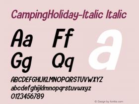 CampingHoliday-Italic