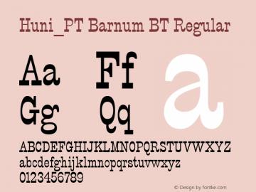 Huni_PT Barnum BT