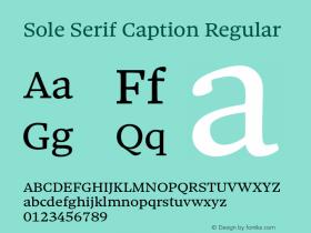 Sole Serif Caption