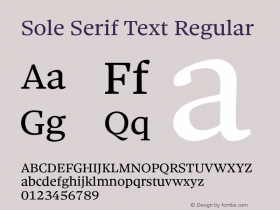 Sole Serif Text