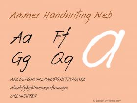 Ammer Handwriting