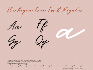 Barbeque Free Font