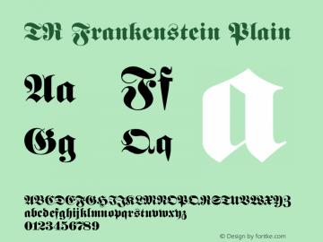 TR Frankenstein