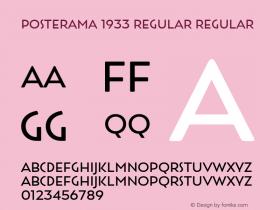 Posterama 1933 Regular
