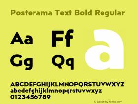 Posterama Text Bold