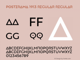Posterama 1913 Regular