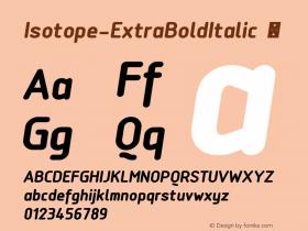 Isotope-ExtraBoldItalic