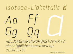 Isotope-LightItalic