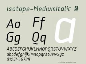 Isotope-MediumItalic