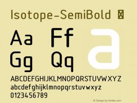 Isotope-SemiBold