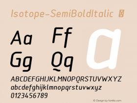 Isotope-SemiBoldItalic