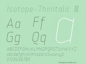 Isotope-ThinItalic