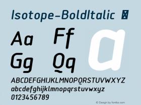 Isotope-BoldItalic