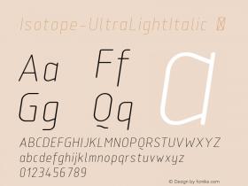 Isotope-UltraLightItalic