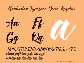 Manhattan Typeface Demo
