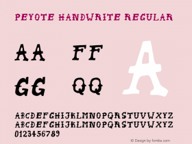 Peyote Handwrite