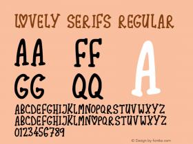 Lovely Serifs