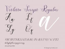 Violetta Script