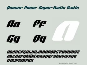 Quasar Pacer Super-Italic