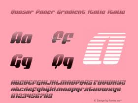 Quasar Pacer Gradient Italic