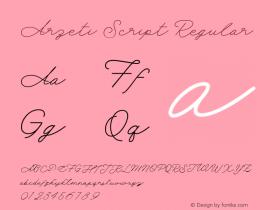 Arzeti Script