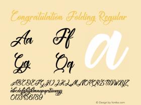 Congratulation Folding