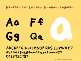 Nexzie Font Letters Numbers