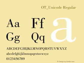 方正蒙文京体OT_Unicode