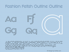 Fashion Fetish Outline