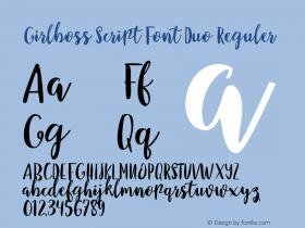 Girlboss Script Font Duo