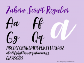 Zahira Script