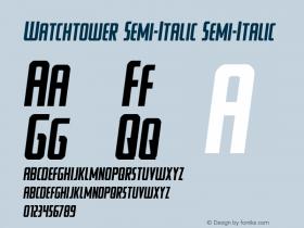 Watchtower Semi-Italic