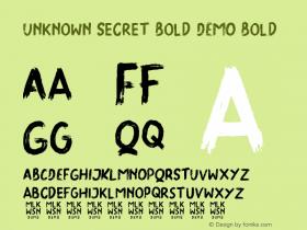 Unknown Secret Bold DEMO