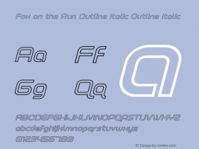 Fox on the Run Outline Italic