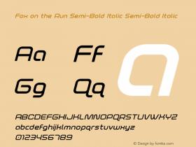Fox on the Run Semi-Bold Italic