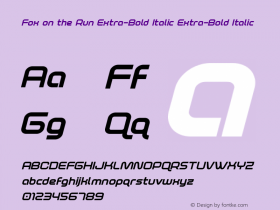Fox on the Run Extra-Bold Italic
