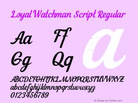 Loyal Watchman Script