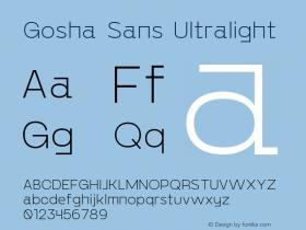 Gosha Sans