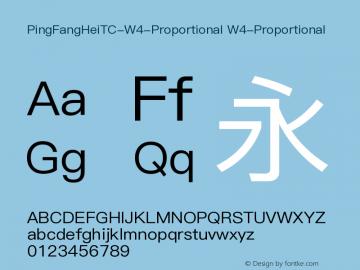 PingFangHeiTC-W4-Proportional