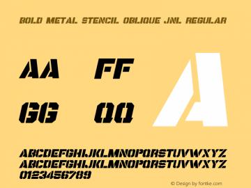 Bold Metal Stencil Oblique JNL