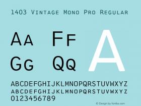 1403 Vintage Mono Pro