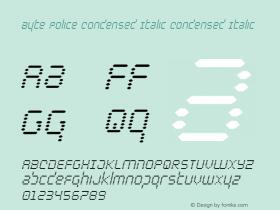 Byte Police Condensed Italic