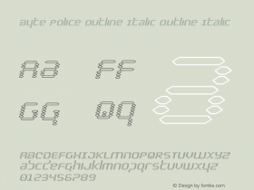 Byte Police Outline Italic