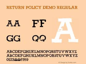 Return Policy DEMO