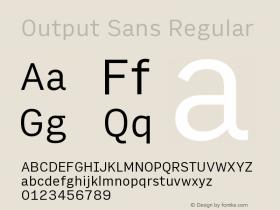 Output Sans