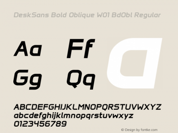 DeskSans Bold Oblique W01 BdObl