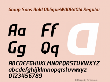 Group Sans Bold ObliqueW00BdObl