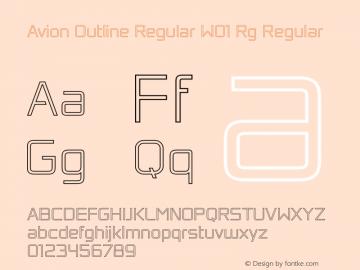Avion Outline Regular W01 Rg