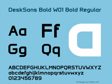 DeskSans Bold W01 Bold